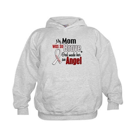 Angel 1 MOM Lung Cancer Kids Hoodie