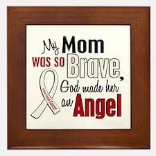 Angel 1 MOM Lung Cancer Framed Tile