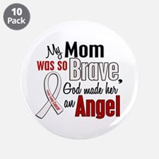 """Angel 1 MOM Lung Cancer 3.5"""" Button (10 pack)"""