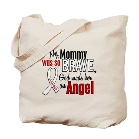 Angel 1 MOMMY Lung Cancer Tote Bag