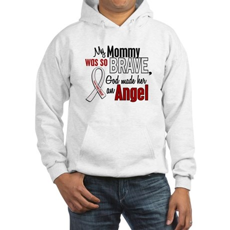 Angel 1 MOMMY Lung Cancer Hooded Sweatshirt