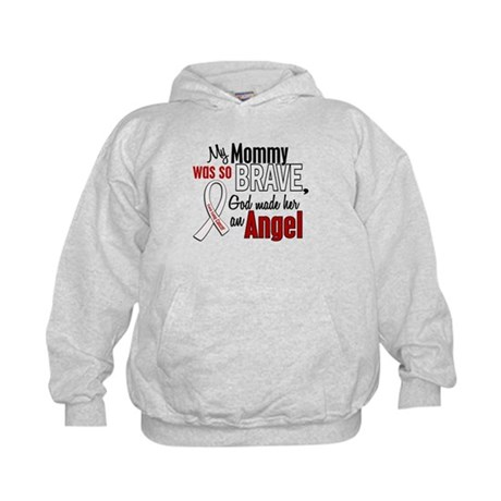 Angel 1 MOMMY Lung Cancer Kids Hoodie