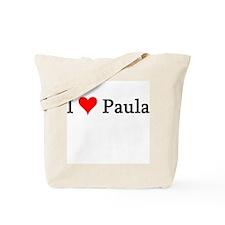 I Love Paula Tote Bag