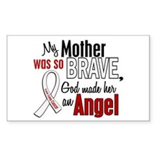 Angel 1 MOTHER Lung Cancer Rectangle Decal