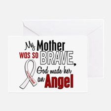 Angel 1 MOTHER Lung Cancer Greeting Card