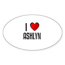 I LOVE ASHLYN Oval Decal