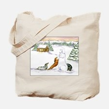 Longhaired Snow Dachshunds Tote Bag