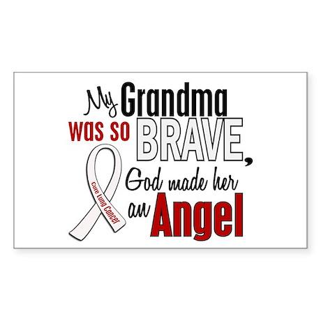 Angel 1 GRANDMA Lung Cancer Rectangle Sticker