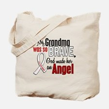 Angel 1 GRANDMA Lung Cancer Tote Bag