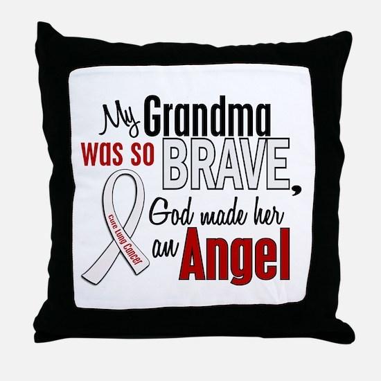 Angel 1 GRANDMA Lung Cancer Throw Pillow