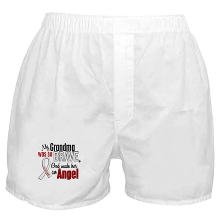 Angel 1 GRANDMA Lung Cancer Boxer Shorts