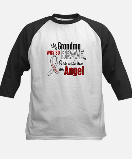 Angel 1 GRANDMA Lung Cancer Kids Baseball Jersey