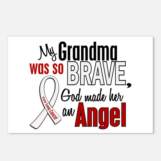 Angel 1 GRANDMA Lung Cancer Postcards (Package of