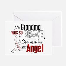 Angel 1 GRANDMA Lung Cancer Greeting Card