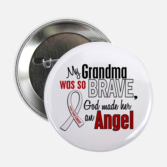 "Angel 1 GRANDMA Lung Cancer 2.25"" Button (10 pack)"