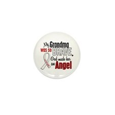 Angel 1 GRANDMA Lung Cancer Mini Button (10 pack)