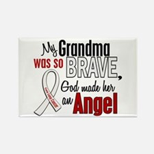 Angel 1 GRANDMA Lung Cancer Rectangle Magnet (10 p
