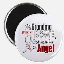 "Angel 1 GRANDMA Lung Cancer 2.25"" Magnet (10 pack)"