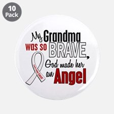 """Angel 1 GRANDMA Lung Cancer 3.5"""" Button (10 pack)"""