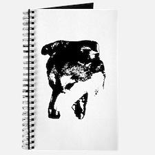 Black Snarling Dog Lover Journal