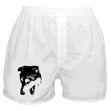 Black Snarling Dog Lover Boxer Shorts