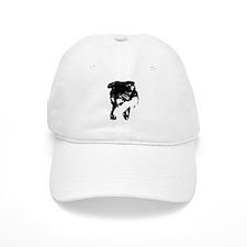 Black Snarling Dog Lover Baseball Cap