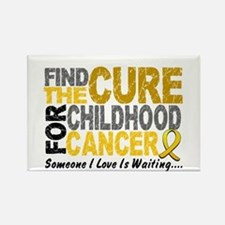 Find The Cure 1 CHILD CANCER Rectangle Magnet