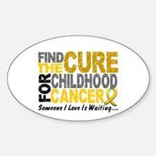 Find The Cure 1 CHILD CANCER Oval Decal