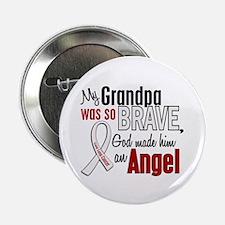 "Angel 1 GRANDPA Lung Cancer 2.25"" Button"