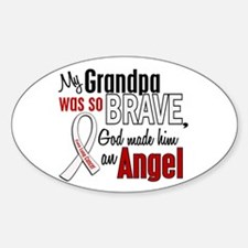 Angel 1 GRANDPA Lung Cancer Oval Decal