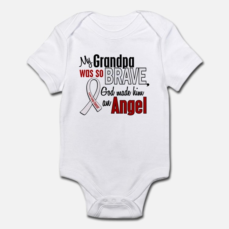 Angel 1 GRANDPA Lung Cancer Infant Bodysuit