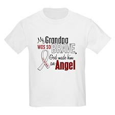 Angel 1 GRANDPA Lung Cancer T-Shirt