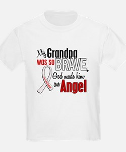 Angel 1 GRANDPA Lung Cancer T-Shirt