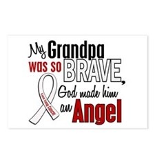 Angel 1 GRANDPA Lung Cancer Postcards (Package of