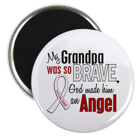 Angel 1 GRANDPA Lung Cancer Magnet
