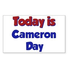 Today Is Cameron Day Rectangle Decal