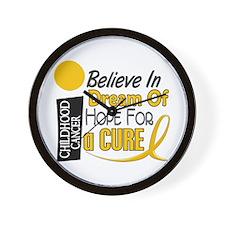 BELIEVE DREAM HOPE Child Cancer Wall Clock