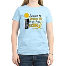 BELIEVE DREAM HOPE Child Cancer T-Shirt