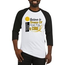 BELIEVE DREAM HOPE Child Cancer Baseball Jersey