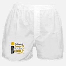 BELIEVE DREAM HOPE Child Cancer Boxer Shorts