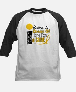 BELIEVE DREAM HOPE Child Cancer Kids Baseball Jers