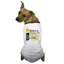 BELIEVE DREAM HOPE Child Cancer Dog T-Shirt