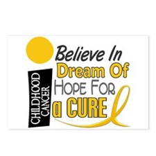 BELIEVE DREAM HOPE Child Cancer Postcards (Package