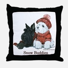 Scottish and Westhighland Terriers Throw Pillow