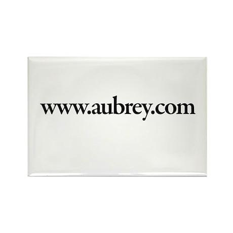 www.Aubrey.com Rectangle Magnet