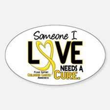 Needs A Cure 2 CHILD CANCER Oval Decal