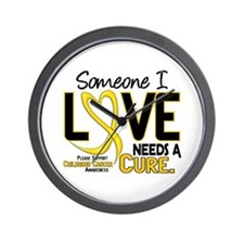 Needs A Cure 2 CHILD CANCER Wall Clock