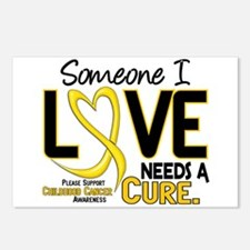 Needs A Cure 2 CHILD CANCER Postcards (Package of