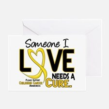 Needs A Cure 2 CHILD CANCER Greeting Card
