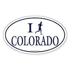 Men's I Run Colorado Oval Decal